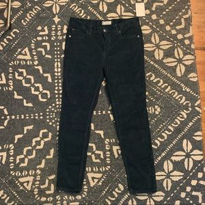 NWT Free People Dark Teal Velvet pants size 30
